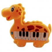 Piano Plast Dinossauro Laranja