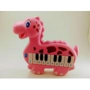 Piano Plast Dinossauro Rosa