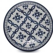 Prato de Jantar Melamina Azul Portugues