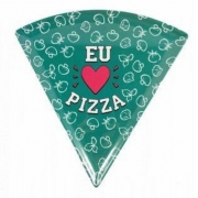 Prato de Pizza Eu amo