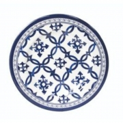 Prato para Sobremesa Azulejo Portugues 21cm Melamina Azul / Branco