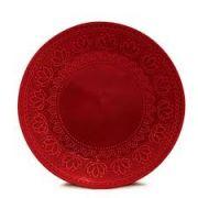 Prato Raso Relieve Vermelho 26 cm