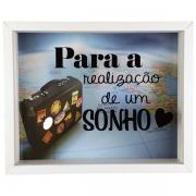 Quadro Cofre Decorativo Madeira Para A Realização De Um Sonho