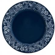 Sousplat Patinado De Plástico Garden Azul 33cm