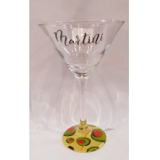 Taça de Martini Decorada 280 ml