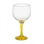 Taça Gin Tônic em Vidro Base Color Amarelo  Bora Bora 600ml