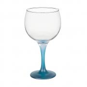 Taça Gin Tônic em Vidro Base Color Azul Neon 600ml