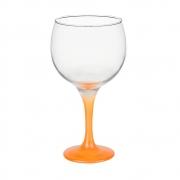 Taça Gin Tônic em Vidro Base Color Laranja Neon 600 ml