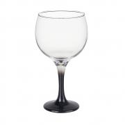Taça Gin Tônic em Vidro Base Color Preto Bora Bora 600 ml