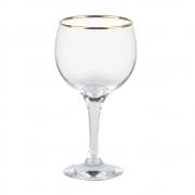 Taça Gin Tônic em Vidro Filete Ouro 600ml