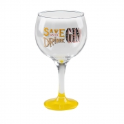 Taça Gin Tônic em Vidro Save Water 600 ml