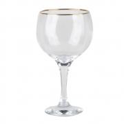 Taça Gin Tônic Filete Ouro 600ml