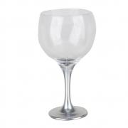 Taça Gin Tônic Base Color Prata 600ml