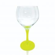 Taça Gin Tônic Base Color Amarelo Neon 600ml