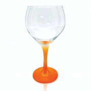 Taça Gin Tônic Base Color Laranja Neon 600 ml