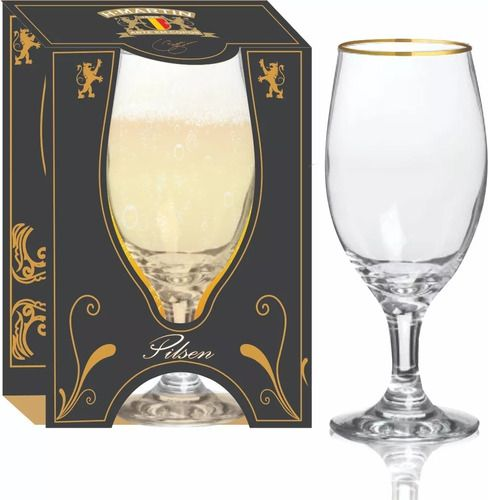 Taça Windsor Filete Ouro 330 ml 1 Unidade