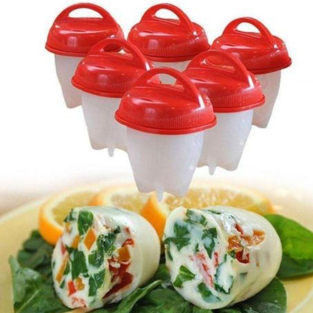 6 Copos de Silicone Egglettes Duro Cooking