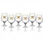 Conjunto 6 Taças Premium Dublin Martin Gold com Filete Ouro 400ml