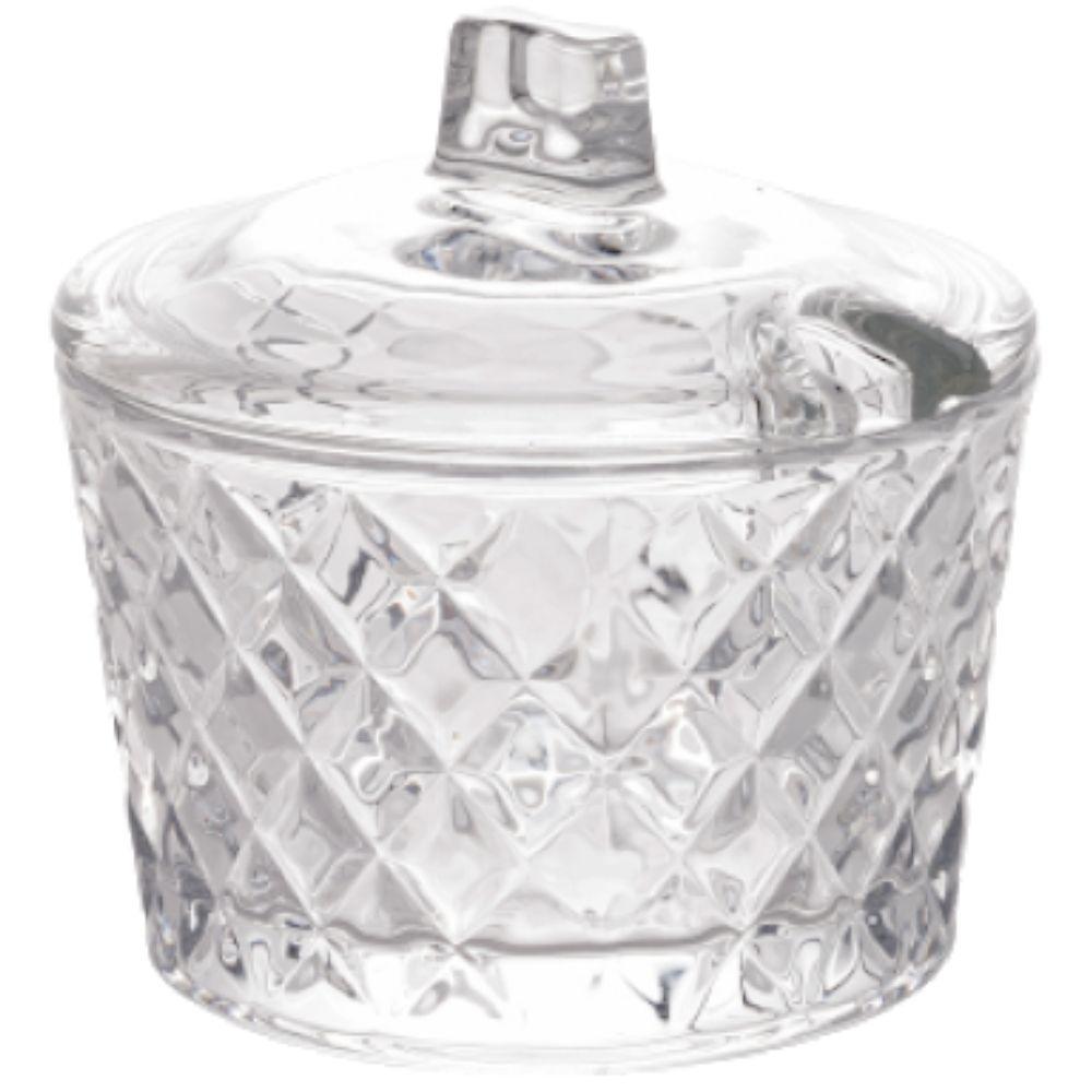 Açucareiro De Cristal Com Tampa Lyor 10cm