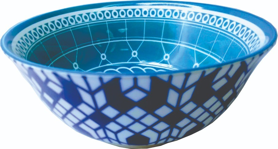 Bowl Grande Estampa Azul
