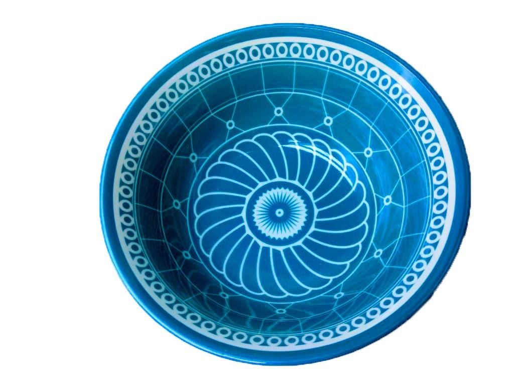 Bowl Grande Estampa Azul