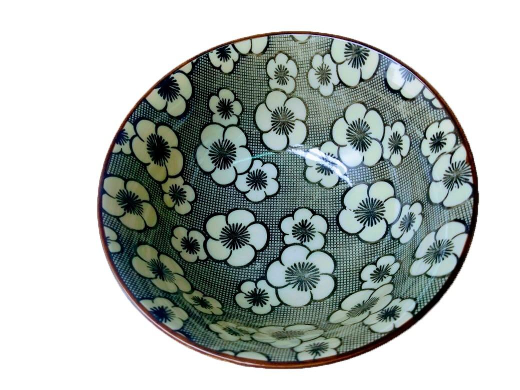 Bowl Médio Preto com Flor