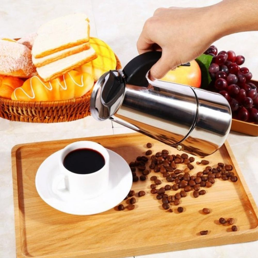 Cafeteira Inox para 6 Cafezinhos