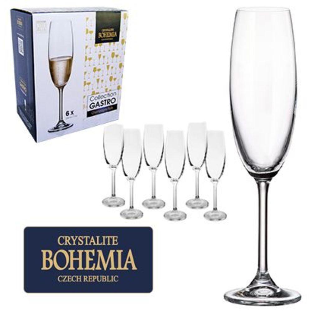 Conjunto 6 Taças Cristal Bohemia com Titanium 220 ml