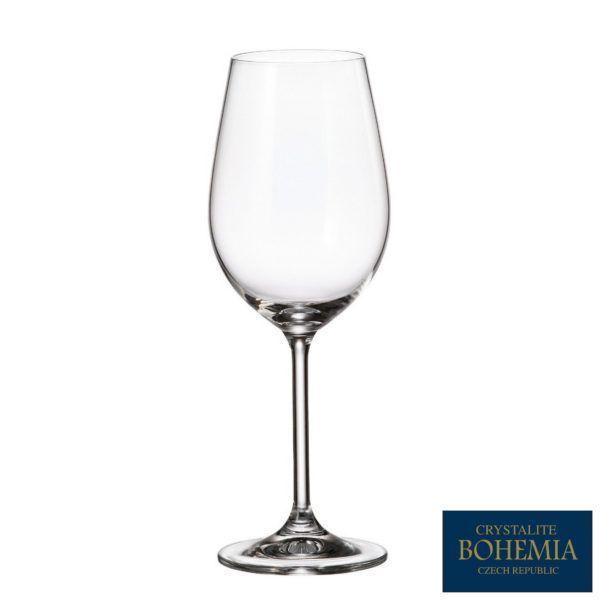 Conjunto 6 Taças Cristal Bohemia com Titanium 350 ml