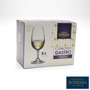 Conjunto com 6 Taças Vinho Branco Cristal Bohemia com Titanium 350 ml
