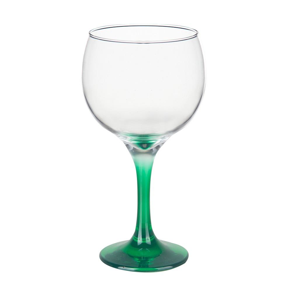 Conjunto 2 Taças Gin Tônic em Vidro Base Color Verde Bora Bora 600ml