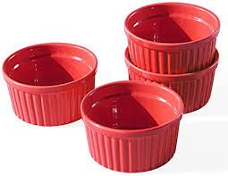 Conjunto 4 Ramekins Gourmet Vermelho 8cm