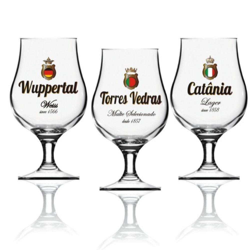 Conjunto 6 Taças Premium Dublin Wuppertal Gold 400ml