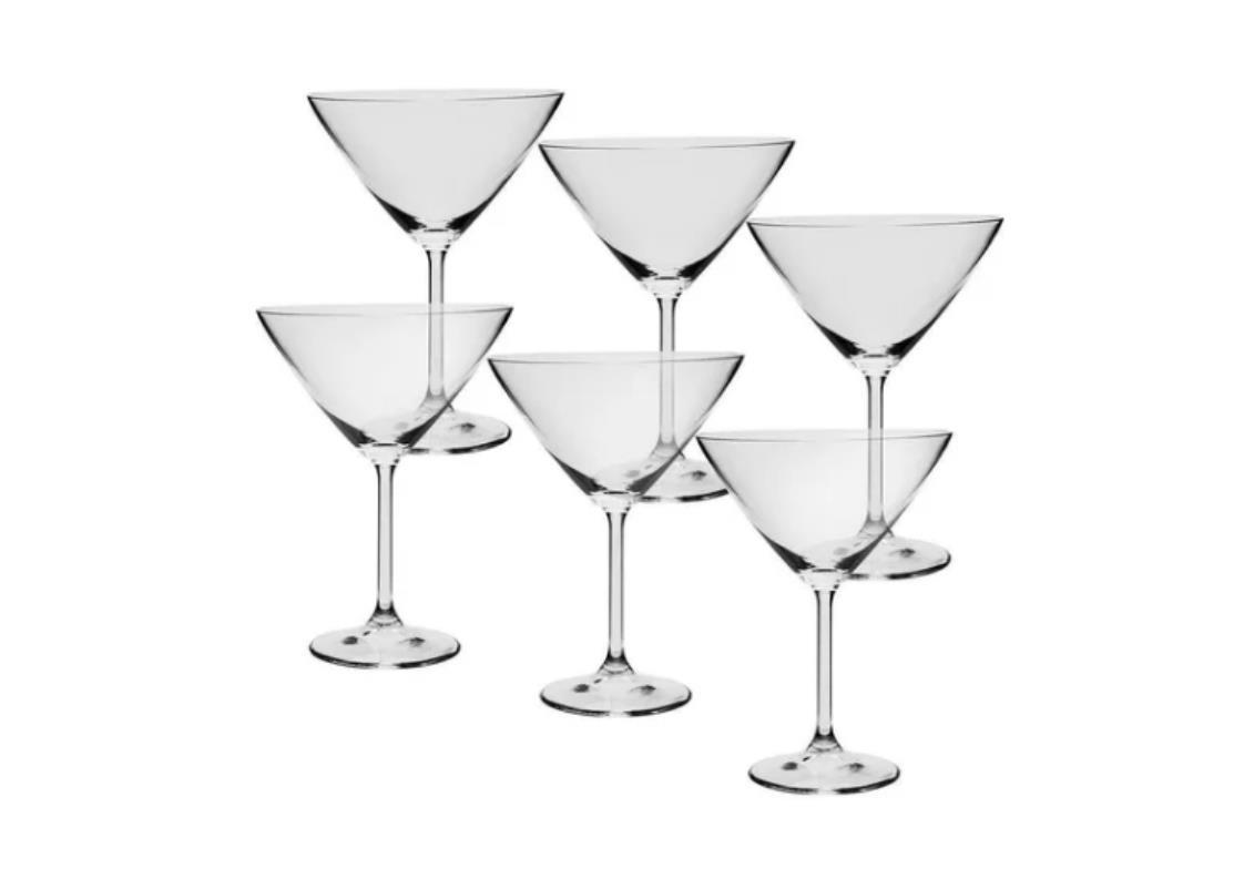 Conjunto 6 Taças Martini De Cristal Bohemia 280ml