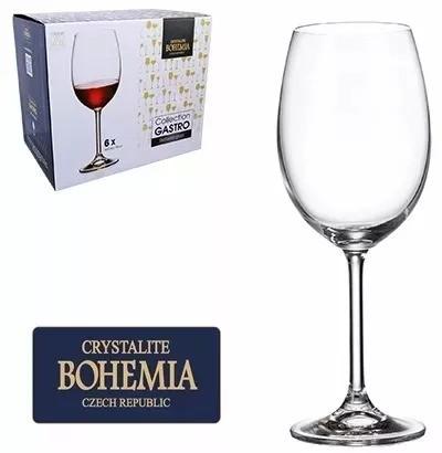 Conjunto 6 Taças Cristal Bohemia com Titanium 580 ml