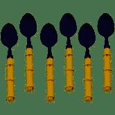Conjunto 6 Colheres  Sobremesa Linha Bambu