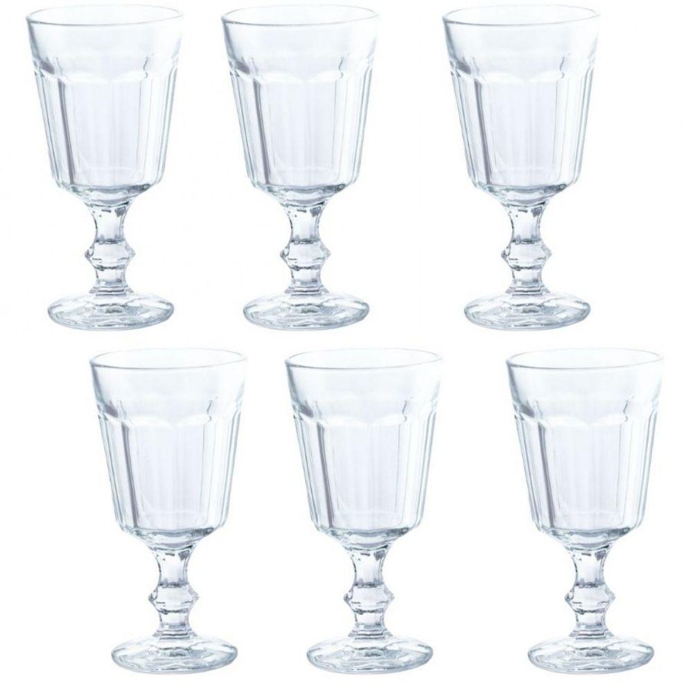 Conjunto de 6 Taças Água Vidro 215ml