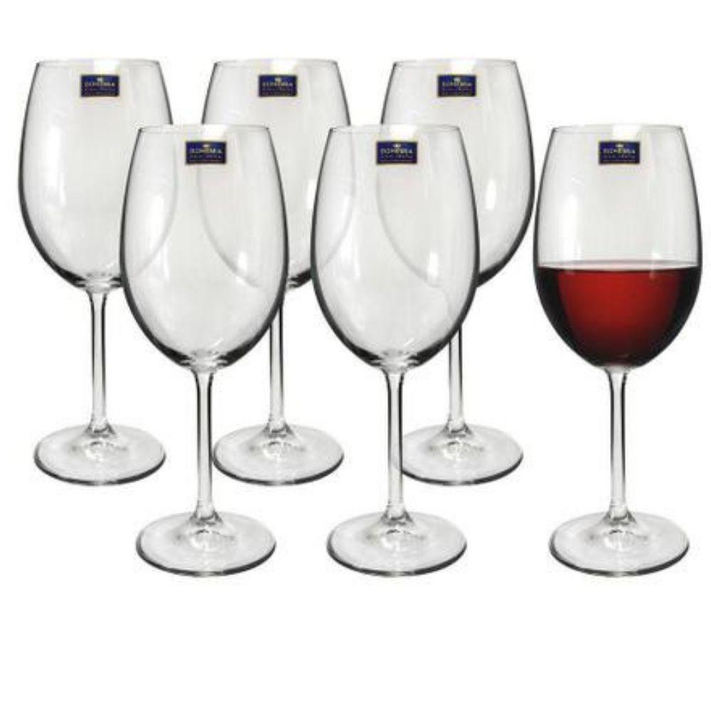 Conjunto De Taça Bohemia Gastro Para Vinho Tinto 480ml