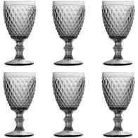 Conjunto de Taças Bico de Abacaxi Fumê
