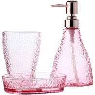 Conjunto  de 3 Peças para Banheiro Elegant Rosa