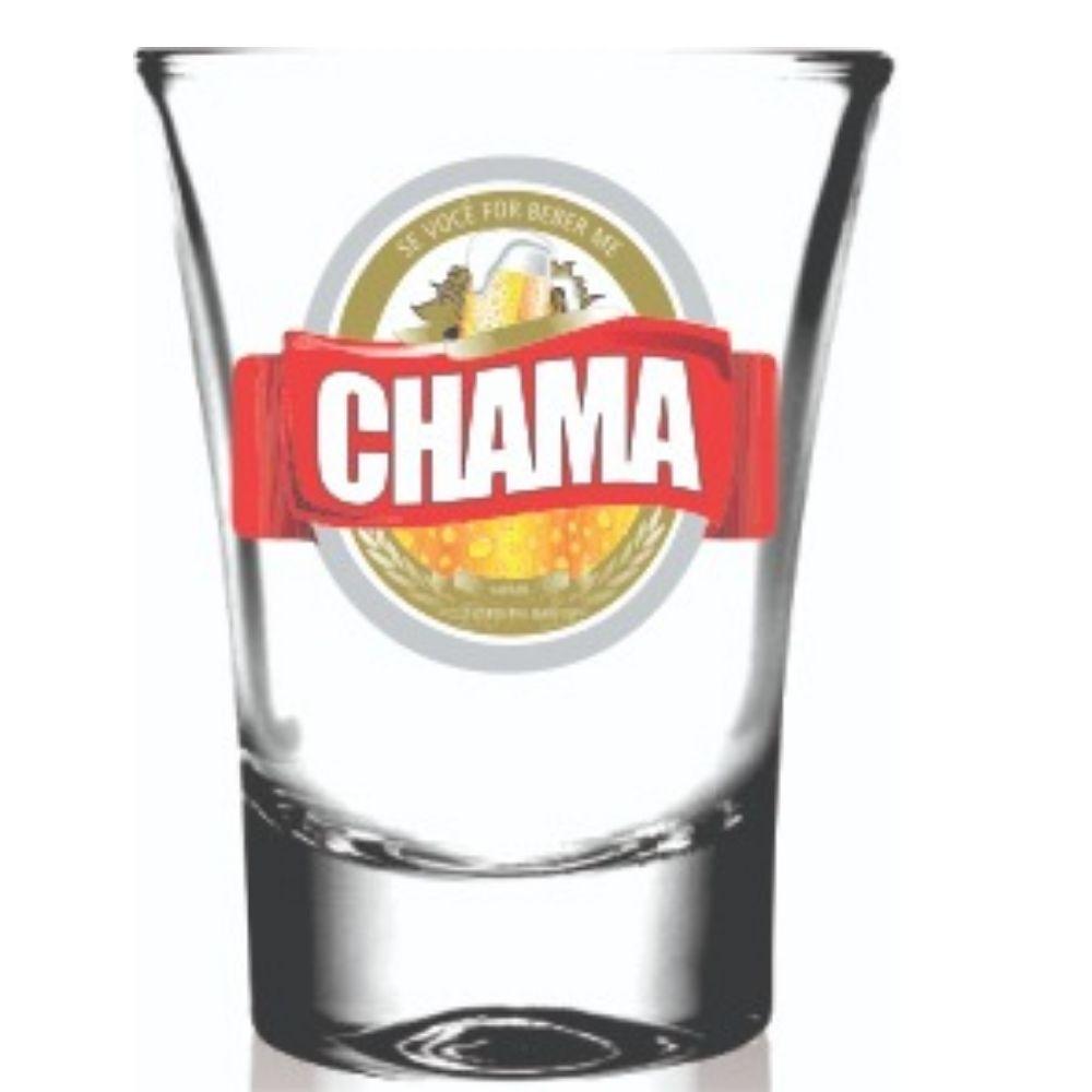 Copo Campana Shot em Vidro Chama