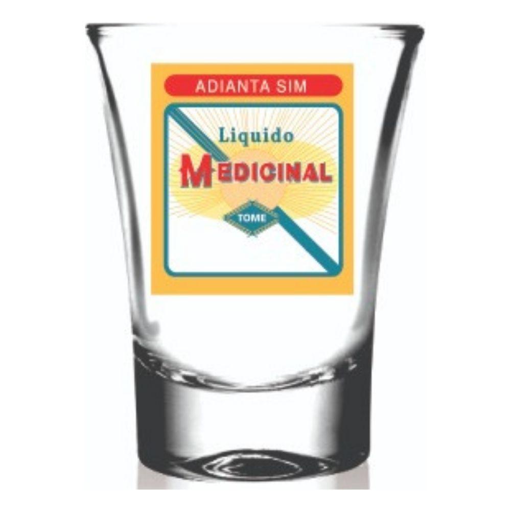 Copo Campana Shot em Vidro Liquido Medicinal