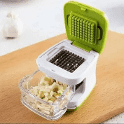 Cortador De Alho Com Reservatório Em Plastico E Aço Inox