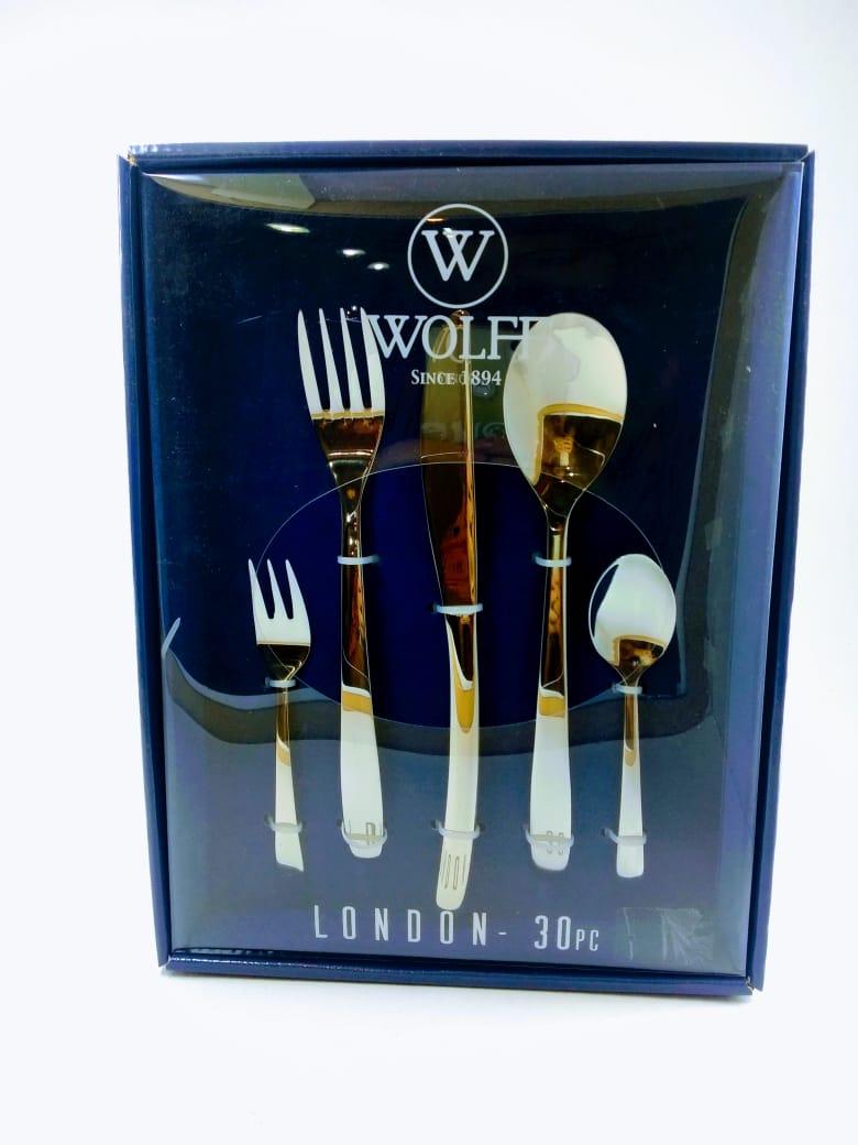 Faqueiro 30 peças Inox Liso London