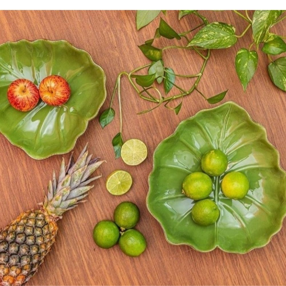 Folha decorativa Cerâmica Banana Leaf Média