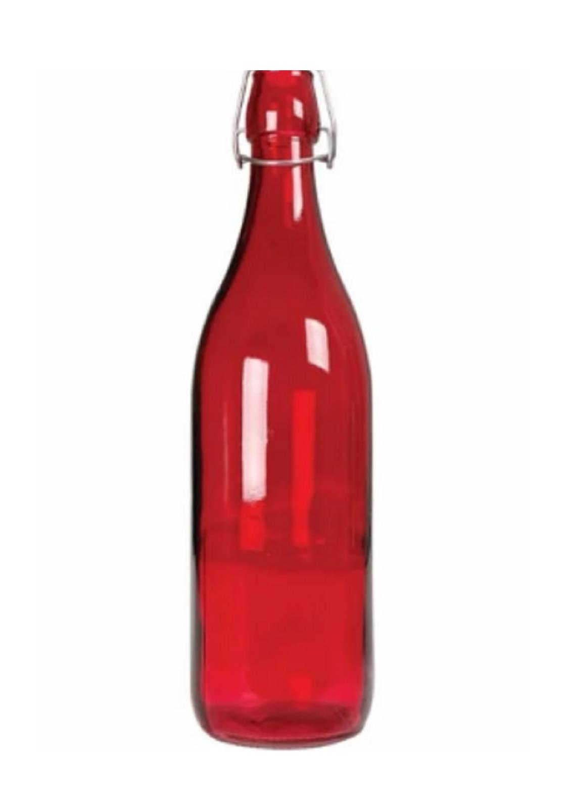 Garrafa De Água 1 Litro Vidro C/ Fechamento Hermético