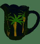 Jarra Cristal De Chumbo Palm Hand Panting 1,3l