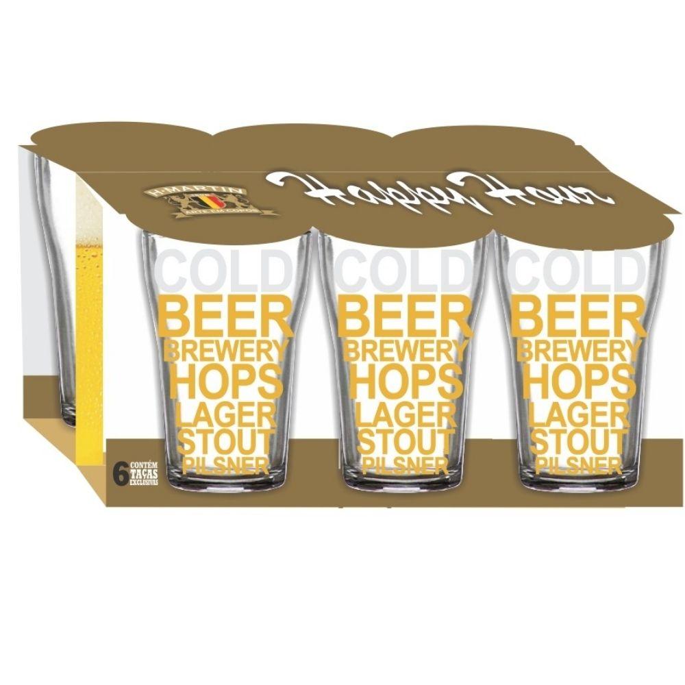 Jogo Boteco Cold Beer 200 ml 6 Unidades