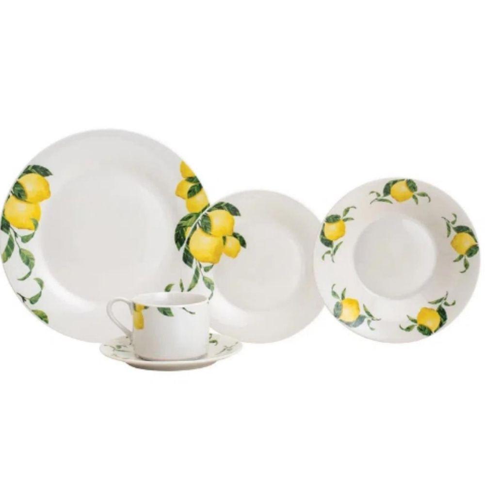 Jogo de jantar em porcelana Lyor Sicilian Lemon 20 peças