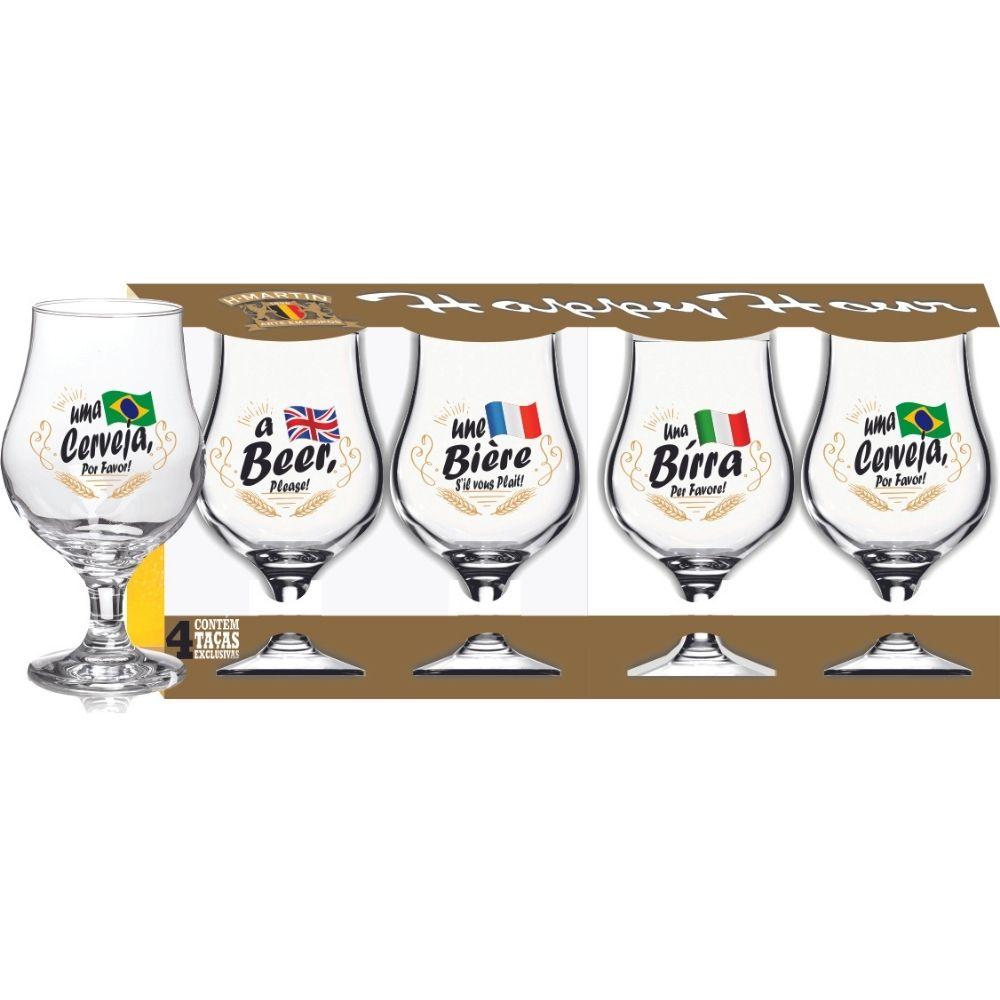 Luva com 4 Copos Dublin Beer Please 400ml